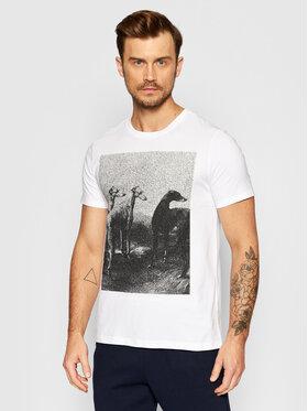 Trussardi Trussardi T-Shirt Print 52T00532 Biały Regular Fit