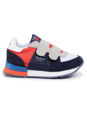 Pepe Jeans Sneakersy Sydney Basic Kids B PBS30431 Tmavomodrá
