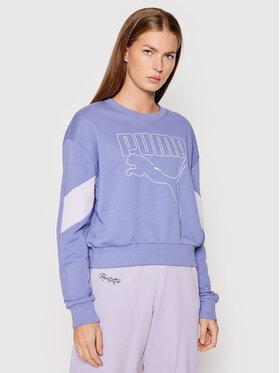 Puma Puma Суитшърт Rebel 585750 Виолетов Relaxed Fit