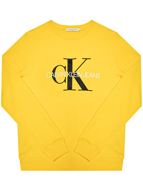 Calvin Klein Jeans Calvin Klein Jeans Bluza Monogram Logo IU0IU00069 Żółty Regular Fit