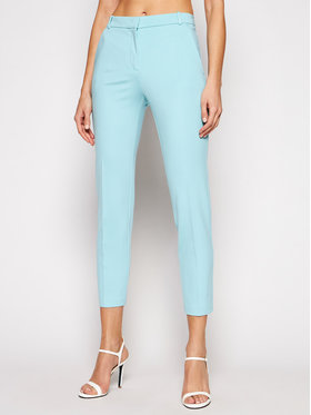 Pinko Pinko Kalhoty z materiálu Bello 20211 BLK01 1G15LF. 5872 Modrá Slim Fit
