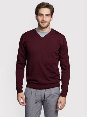 Vistula Vistula Sweter Nungu XA0857 Bordowy Regular Fit