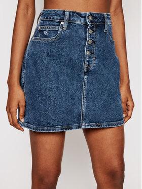 Calvin Klein Jeans Calvin Klein Jeans Džinsinis sijonas J20J215925 Tamsiai mėlyna Regular Fit