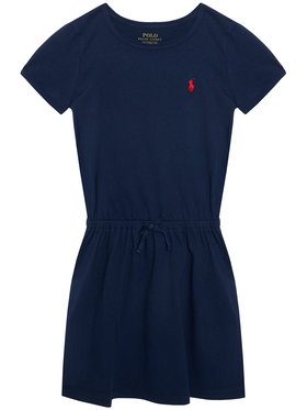 Polo Ralph Lauren Polo Ralph Lauren Každodenní šaty Tie Frnt Drs 313833945008 Tmavomodrá Regular Fit