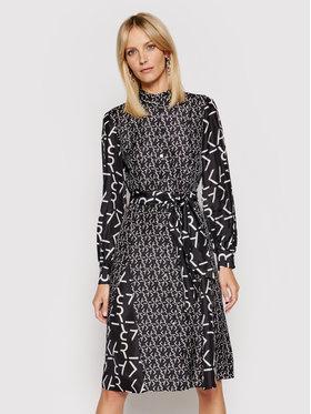 KARL LAGERFELD KARL LAGERFELD Marškinių tipo suknelė Future Logo 211W1305 Juoda Regular Fit