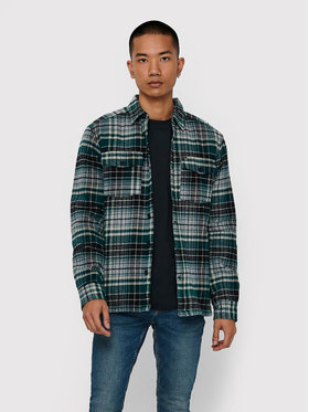 Only & Sons ONLY & SONS Преходно яке Jarred 22018217 Зелен Regular Fit