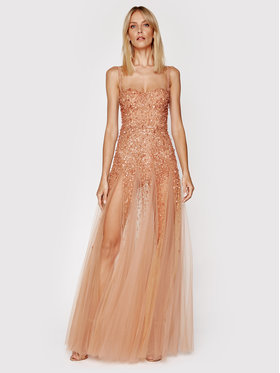 Elisabetta Franchi Elisabetta Franchi Večerné šaty AB-022-11E2-V1300 Ružová Slim Fit