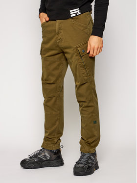 G-Star Raw G-Star Raw Kalhoty z materiálu Roxic Straight Tapered Cargo D14515-C096-C028 Zelená Tapered Fit