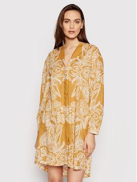 Marc O'Polo Marc O'Polo Sukienka koszulowa M04 1491 21195 Żółty Regular Fit