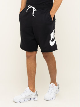 NIKE NIKE Sportshorts Nsw French Terry Alumni Logo AR2375 Schwarz Loose Fit