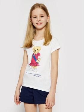 Polo Ralph Lauren Polo Ralph Lauren T-shirt Bear 313838265001 Blanc Regular Fit