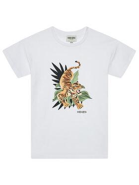 Kenzo Kids Kenzo Kids T-Shirt K25106 S Biały Regular Fit