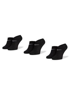 NIKE NIKE Sada 3 párů nízkých ponožek unisex SX2554 001 Černá