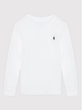 Polo Ralph Lauren Polo Ralph Lauren Bluzka Ls Cn 323843804004 Biały Regular Fit