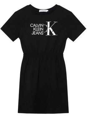 Calvin Klein Jeans Calvin Klein Jeans Rochie de zi Hybrid Logo IG0IG00913 Negru Regular Fit