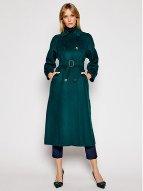 Weekend Max Mara Weekend Max Mara Manteau en laine Potente 50110217 Vert Regular Fit