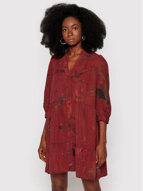 Desigual Desigual Haljina košulja Sevilla 21WWVW74 Tamnocrvena Relaxed Fit