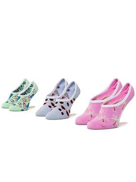Vans Vans Súprava 3 párov kotníkových ponožiek dámských Beachin Canoodles VN0A4DS34481 r.37-41 Zelená