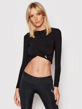 Carpatree Carpatree Techniniai marškinėliai Gaia GLT-C Juoda Slim Fit