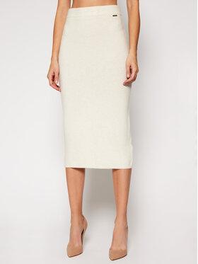 Guess Guess Puzdrová sukňa Kaia W0RR38 R2QA0 Béžová Slim Fit