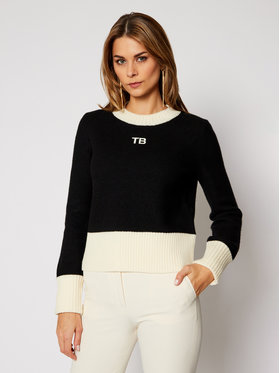 Tory Burch Tory Burch Πουλόβερ 76897 Μαύρο Relaxed Fit