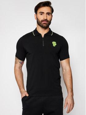 KARL LAGERFELD KARL LAGERFELD Тениска с яка и копчета 745091 511221 Черен Regular Fit