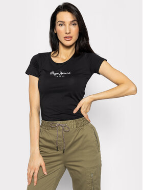 Pepe Jeans Pepe Jeans T-Shirt PL502711 Μαύρο Slim Fit