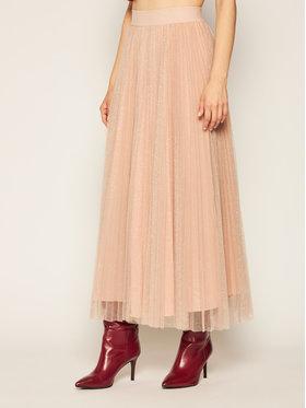 Liu Jo Liu Jo Plesirana suknja IF0017 J1858 Ružičasta Regular Fit