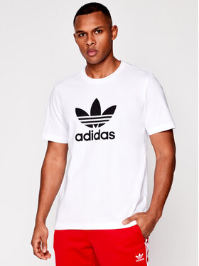 adidas adidas Тишърт Trefoil GN3463 Бял Regular Fit
