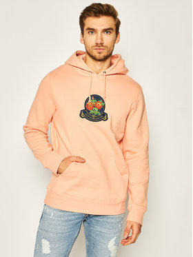 HUF HUF Sweatshirt Tenderloin Rose Crest PF00211 Orange Regular Fit