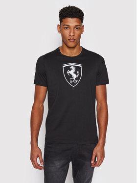 Puma Puma T-Shirt Ferrari Race Big Shield 599849 Czarny Regular Fit