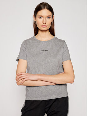 Calvin Klein Calvin Klein T-shirt Mini Calvin Klein Tee K20K202912 Siva Regular Fit
