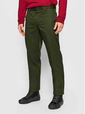 Dickies Dickies Spodnie materiałowe Work DK0WP873 Zielony Slim Fit