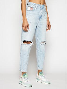Tommy Jeans Tommy Jeans Blugi Mom Fit Ultra Hr Tprd DW0DW09874 Albastru Mom Fit