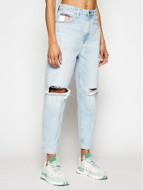 Tommy Jeans Tommy Jeans Mom Fit džinsai Ultra Hr Tprd DW0DW09874 Mėlyna Mom Fit