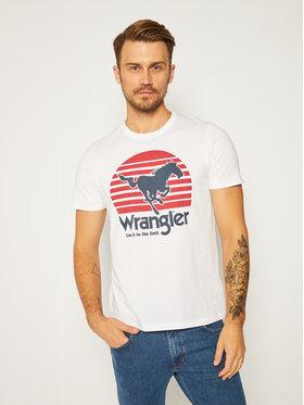 Wrangler Wrangler T-Shirt Horse Tee W7G1D3989 Weiß Regular Fit