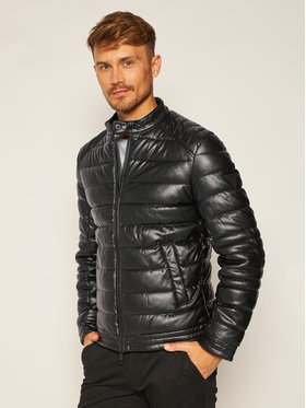 Guess Guess Bőrkabát Stretch Eco Puffa M0YL55 WD320 Fekete Regular Fit