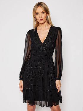 TwinSet TwinSet Koktejlové šaty 202TP235B Černá Regular Fit