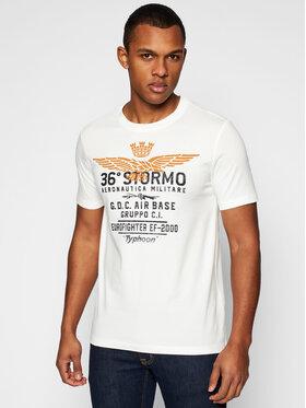 Aeronautica Militare Aeronautica Militare T-shirt 211TS1867J492 Bijela Regular Fit