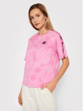 Champion Champion T-Shirt 114761 Różowy Custom Fit