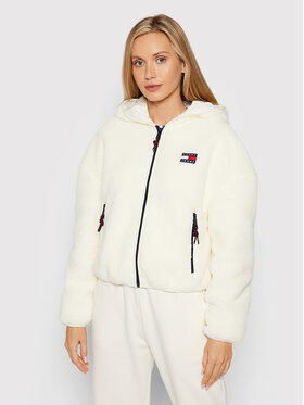 Tommy Jeans Tommy Jeans Giacca di transizione Tjw Sherpa DW0DW11093 Bianco Relaxed Fit