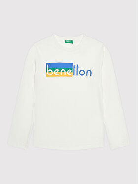 United Colors Of Benetton United Colors Of Benetton Blusa 3VTEC15B7 Bianco Regular Fit