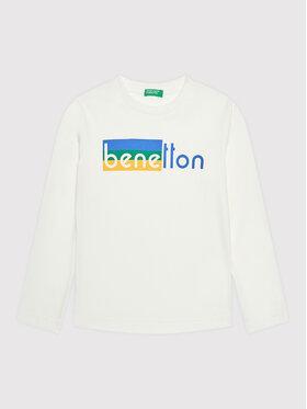 United Colors Of Benetton United Colors Of Benetton Chemisier 3VTEC15B7 Blanc Regular Fit