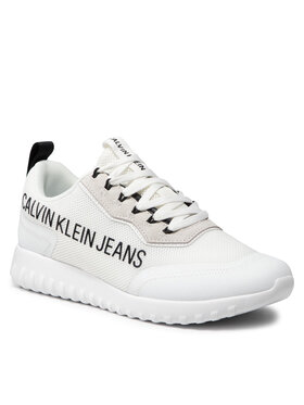 Calvin Klein Jeans Calvin Klein Jeans Sneakersy Runner Laceup Sneaker Eva Inst YM0YM00296 Bílá