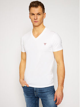 Guess Guess T-Shirt M1RI32 J1311 Biały Super Slim Fit
