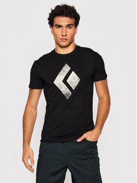 Black Diamond Black Diamond Marškinėliai Chalked Up APUO950002 Juoda Regular Fit