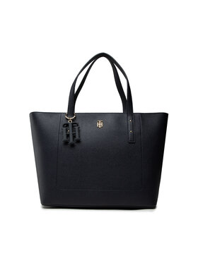 Tommy Hilfiger Tommy Hilfiger Geantă Th Soft Tote AW0AW10101 Bleumarin