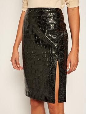 Pennyblack Pennyblack Kožená sukně Luminoso 17740120 Černá Regular Fit