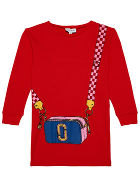 Little Marc Jacobs Little Marc Jacobs Kleid für den Alltag W12333 D Rot Regular Fit