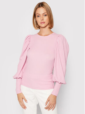 Vero Moda Vero Moda Bluzka Sie 10238484 Różowy Slim Fit